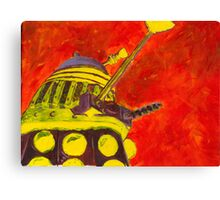Exterminate - Dalek Painting Canvas Print