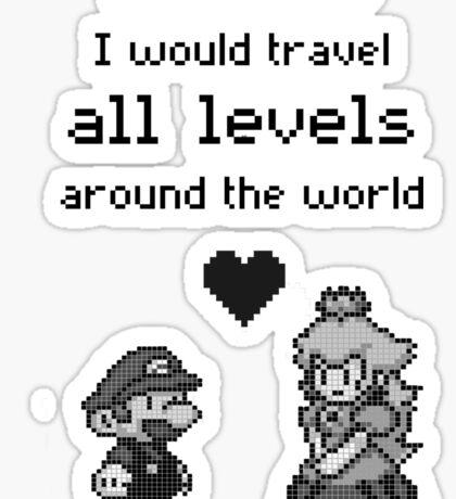 Pixel Mario and Peach Sticker