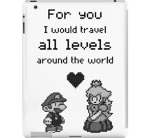 Pixel Mario and Peach iPad Case/Skin