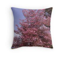 Pink Petals Along Puget Sound - Commencement Bay Throw Pillow