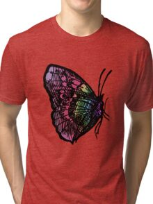 Butterfly Number 1 Adults Tri-blend T-Shirt