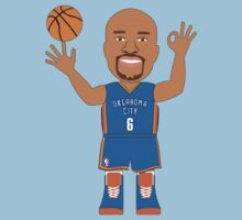 NBAToon of Derek Fisher, player of Oklahoma City Tunder by D4RK0