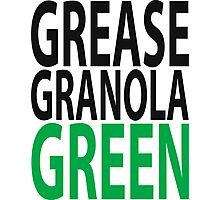 grease granola GREEN! Photographic Print