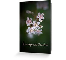 "Floral card with Text: ""To a special teacher"" Greeting Card"