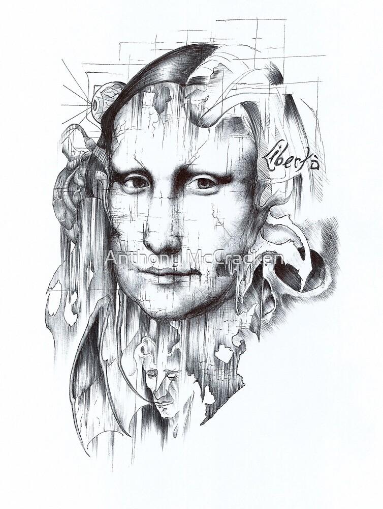 Behind Mona Lisa by Anthony McCracken