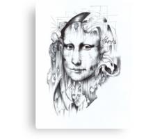 Behind Mona Lisa Canvas Print