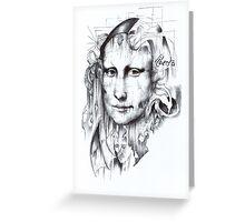 Behind Mona Lisa Greeting Card