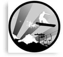 snowboard : powder trail Canvas Print