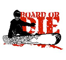 skeleboarder board or die Photographic Print