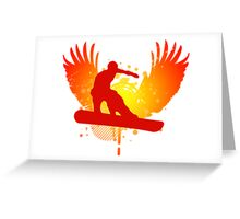 snowboard : hi-fi Greeting Card