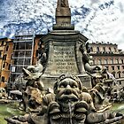 Fontana Del Pantheon, Rome, Italy (HDR / Fisheye) * by Justin Mitchell