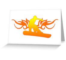 snowboard : tribalz Greeting Card