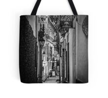 Streets of Seville BW Tote Bag