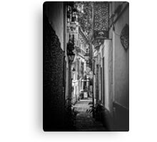 Streets of Seville BW Metal Print