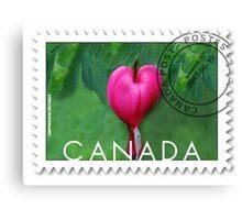 (✿◠‿◠) BLEEDING HEART CANADIAN POSTMARK STAMP (✿◠‿◠) Canvas Print