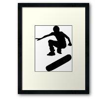 skateboard : silhouettes (SMALL) Framed Print
