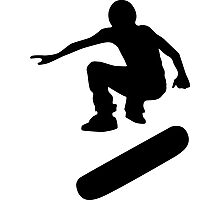skateboard : silhouettes (SMALL) Photographic Print