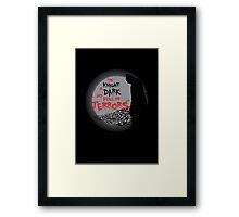The Knight is Dark Framed Print