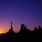 Monument Valley Sunrise by Anthony Hennessy