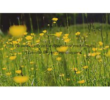 Quote.  Photographic Print