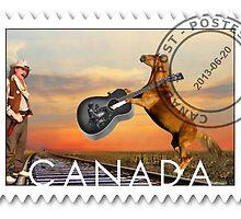 ☀ ツCOWBOY AND GIFTED HORSE CANDIAN STYLE POSTAGE STAMP (CANDIAN STYLE EH LOL)☀ ツ by ╰⊰✿ℒᵒᶹᵉ Bonita✿⊱╮ Lalonde✿⊱╮