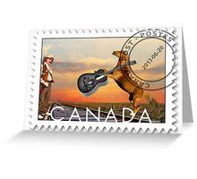 ☀ ツCOWBOY AND GIFTED HORSE CANDIAN STYLE POSTAGE STAMP (CANDIAN STYLE EH LOL)☀ ツ Greeting Card