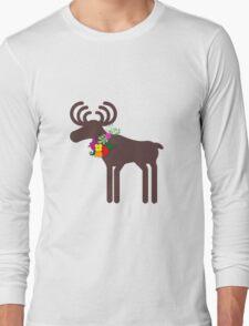 Christmas Moose Long Sleeve T-Shirt