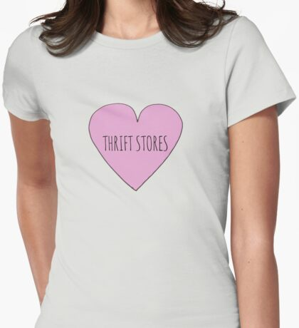 Thrift Store Love Womens Fitted T-Shirt