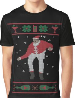 Christmas Bling - Santa Graphic T-Shirt