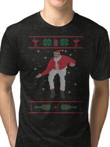 Christmas Bling - Santa Tri-blend T-Shirt