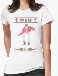 Christmas Bling - Santa Womens Fitted T-Shirt