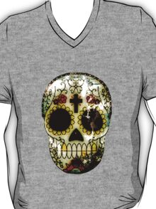Day of the Dead Sugar Skull Grunge Design T-Shirt