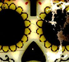 Day of the Dead Sugar Skull Grunge Design Sticker