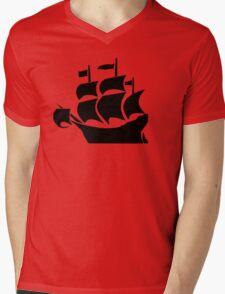 Galleon Mens V-Neck T-Shirt