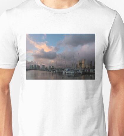 Tropical Storm Skies Over Ala Wai Harbor in Honolulu, Hawaii Unisex T-Shirt