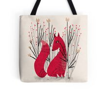 Fox in Shrub Tote Bag