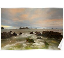 Neds Beach Rocks Poster
