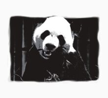 Cute Giant Panda Bear with tasty Bamboo Leaves Kids Clothes