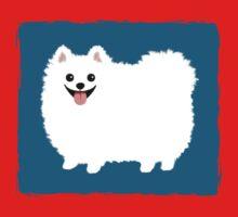 Fluffy White Pomeranian One Piece - Long Sleeve