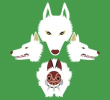 Mononoke - The wolves Kids Tee