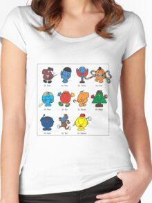 Mr Men Who Women's Fitted Scoop T-Shirt