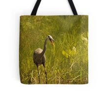 Urban 'Great Blue Heron' say's Hello! Tote Bag