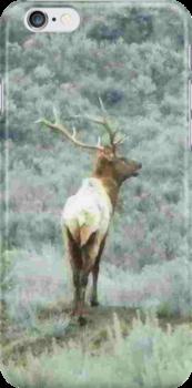 Lone Elk - iPhone Case by BettyEDuncan