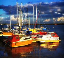 Heybridge Boats and Rainbow by newbeltane