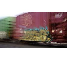 Train Graffiti Art Whiting Indiana Photographic Print