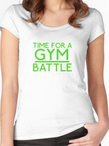 Time For A Gym Battle - Green Women's Fitted Scoop T-Shirt