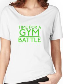 Time For A Gym Battle - Green Women's Relaxed Fit T-Shirt