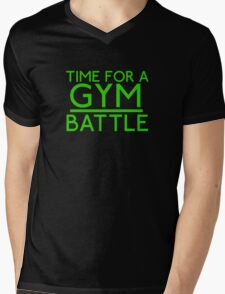 Time For A Gym Battle - Green Mens V-Neck T-Shirt