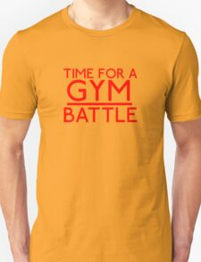 Time For A Gym Battle - Red T-Shirt