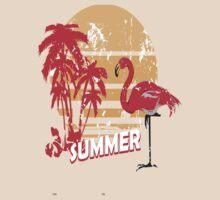 summer flamingo by mojokumanovo